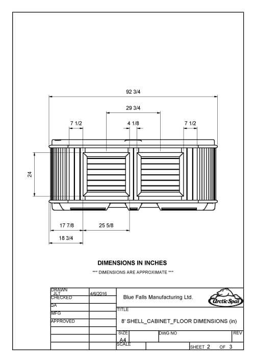 Dimensioned Drawings 8'